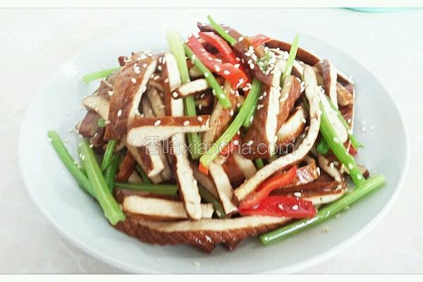 香芹炒豆腐干