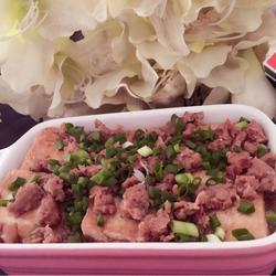 蜜汁黑椒肉末浇老豆腐
