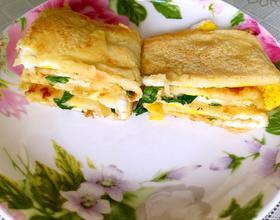 五谷杂面鸡蛋饼
