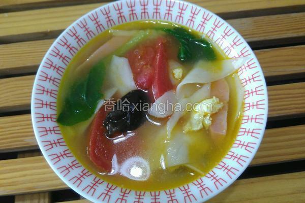 彩蔬面片汤