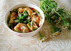 小葱 豇豆 鸡蛋 酸辣汤饺