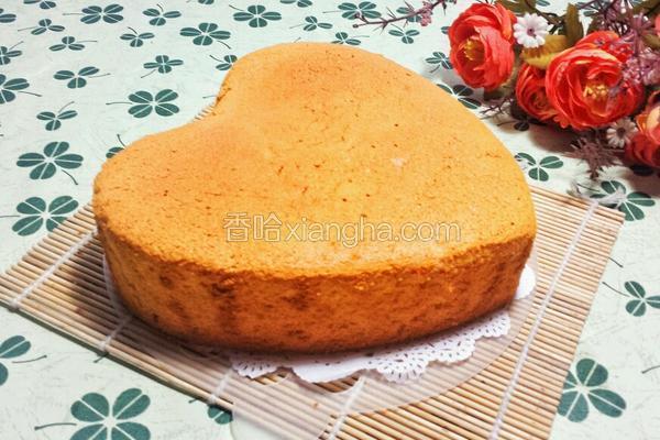 八寸心型戚风蛋糕