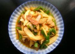 青椒肉片炒茭白