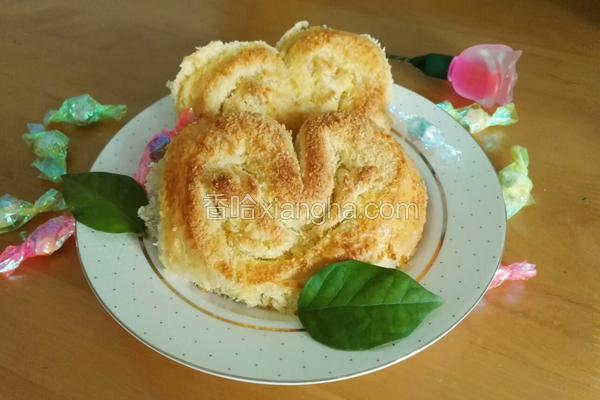 心形椰蓉面包(手工揉面版)