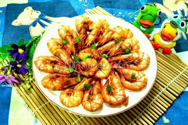 红酒焖大虾