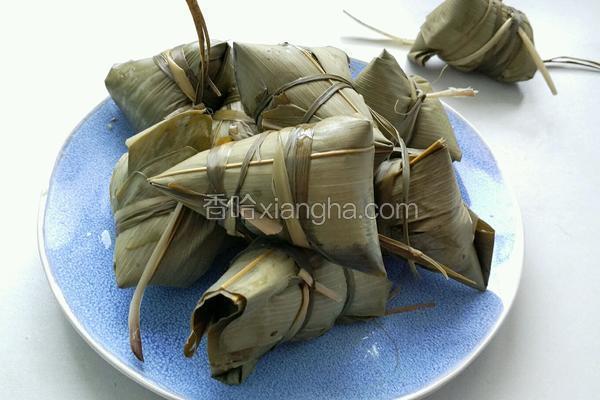 清香豆沙粽