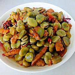 红烧蚕豆壳