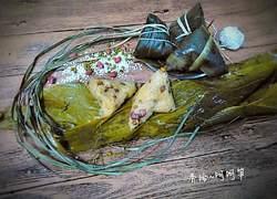 绿豆花生蜜枣粽(三角粽)