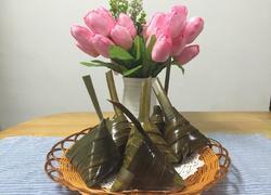 五香绿豆大肉粽