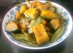 豆角炖南瓜