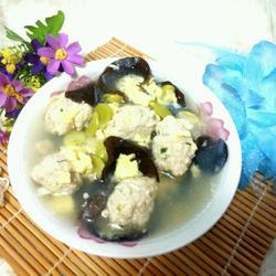 蚕豆瓣肉圆蛋汤