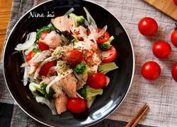 三文鱼蔬菜色拉