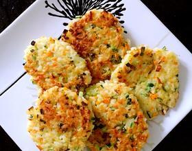 米饭蔬菜饼