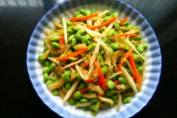 毛豆炒三丝