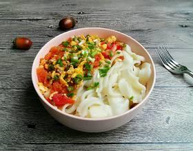 豆角西红柿鸡蛋打卤面[图]