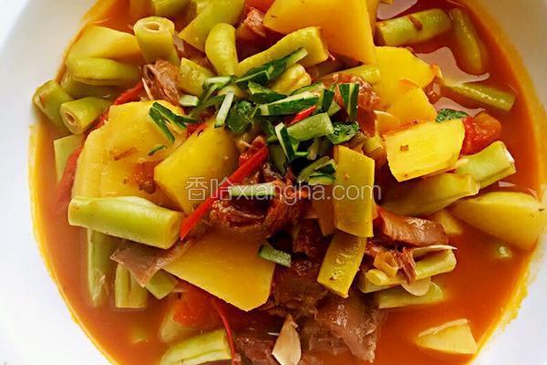 土豆牛肉烩豆角