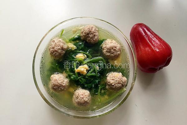 益母草肉丸汤