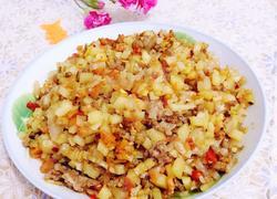 土豆肉末泡菜丁