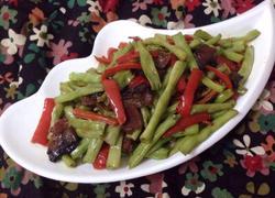 长豆角炒腊肉