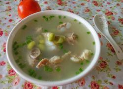 排骨毛豆汤