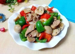 草菇炒瘦肉
