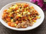 玉米胡萝卜炒肉丁的做法[图]