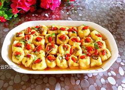 豆腐泡酿虾肉