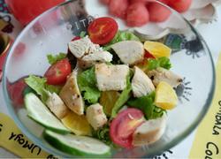香橙鸡胸肉蔬菜沙拉