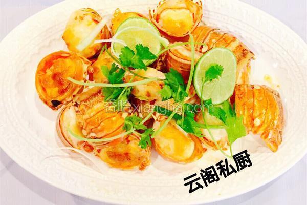 姜片炒龙虾尾