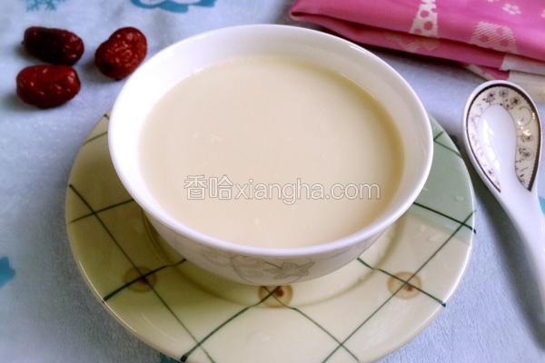 红枣燕麦豆浆