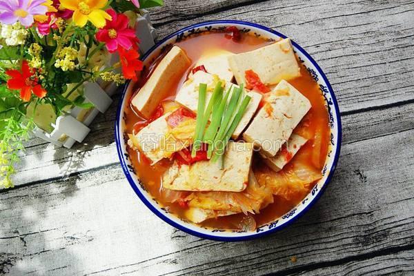 西红柿炖白菜豆腐