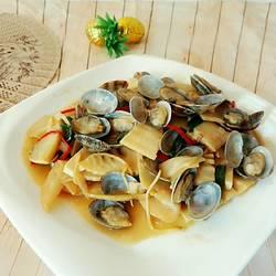 酸笋炒花蛤