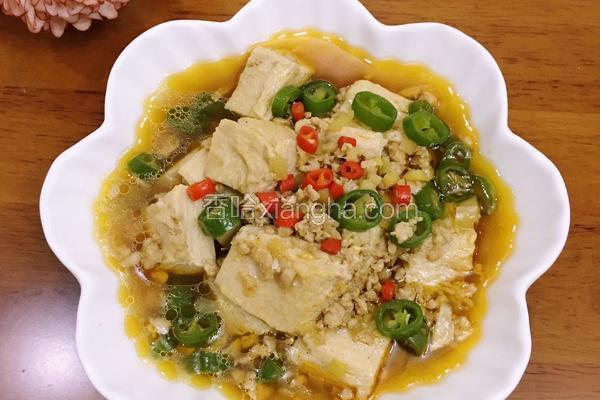 肉沫炖冻豆腐