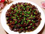 小虾米炒猪血的做法[图]