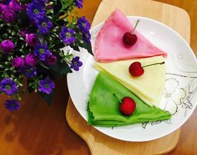 三色千层蛋糕皮