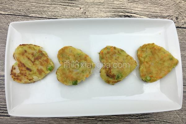五彩蔬菜豆渣饼
