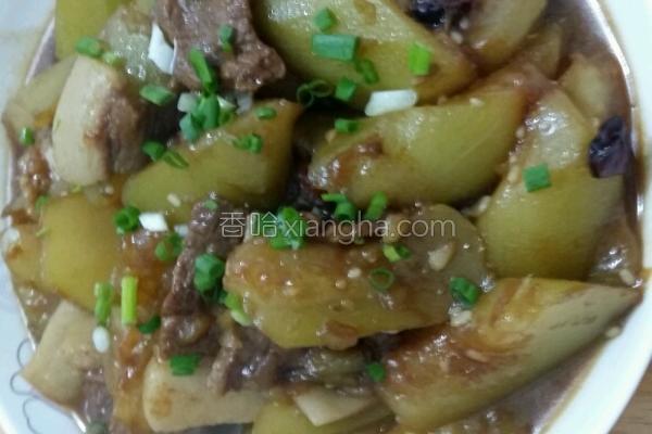 烧肉瓠子的菜谱_做法_香哈网h家常菜图片