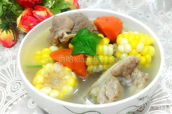 砂锅同骨玉米汤