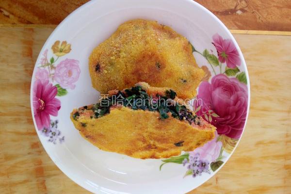蒜香苋菜玉米饼