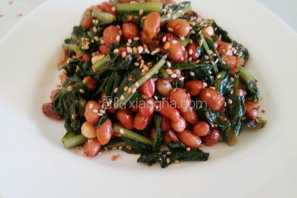 花生米拌莴笋叶