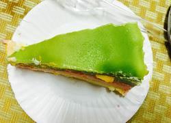 三色千层蛋糕