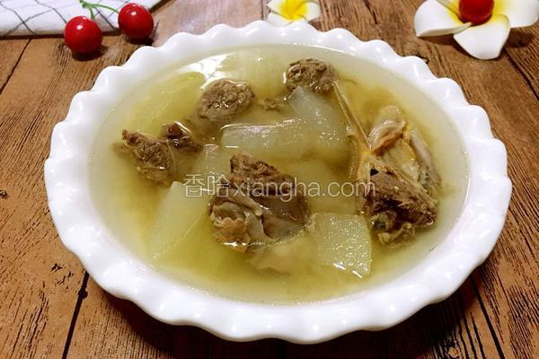 鸭头炖冬瓜汤