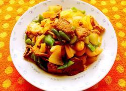 里脊肉炒日本豆腐