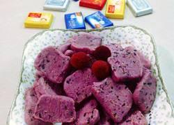 奶香紫薯芝麻饼