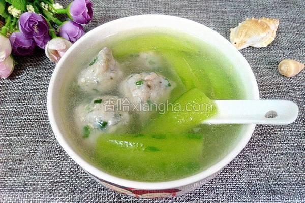 鲮鱼丸丝瓜汤