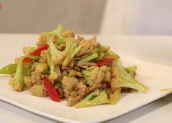 肉片炒菜花