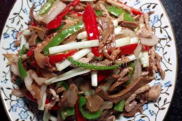 韭黄笋干炒肉丝