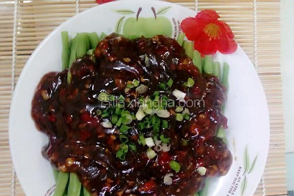 蒜蓉剁椒豇豆