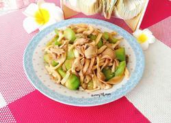 丝瓜炒袖珍菇