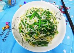 自发绿豆芽炒韭苔